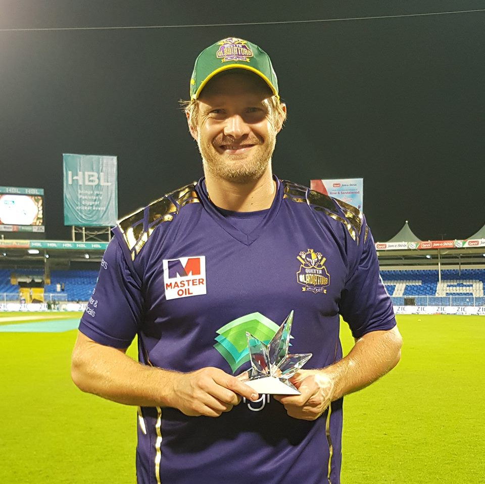 Shane Watson was declared man of the match for his batting performance., PSL News